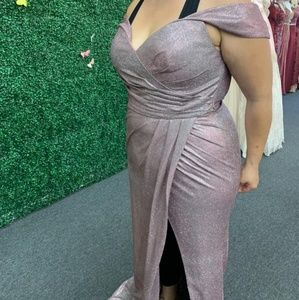 Metallic rose gown